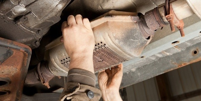Photo of catalytic converter.
