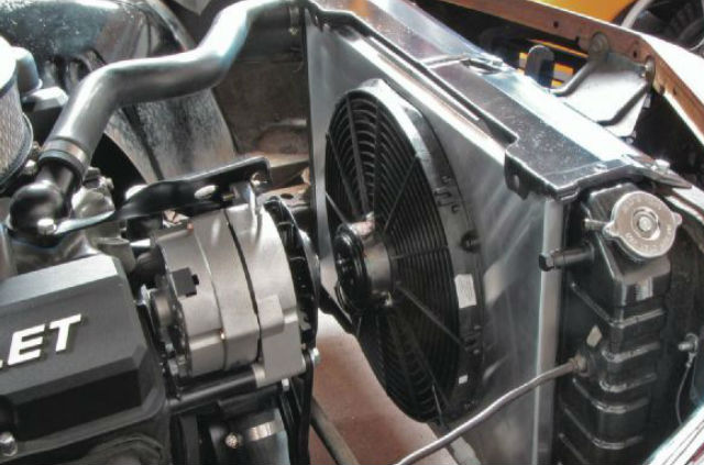Photo of auto cooling system fan.